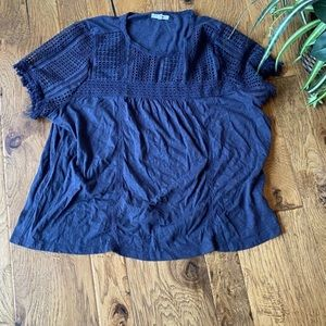 Maurices Top with Lace Size M